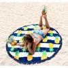 Nautical Pineapple Round Beach Towel Fruit Circle Beach Blanket