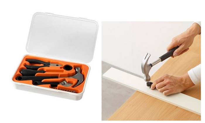 Practical 17-Piece Tool Kit For All Your Basic Needs At Home