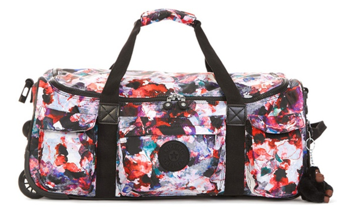 de7aad4b0 Kipling Discover Small Wheeled Duffle Bag - Wild Flower | Groupon