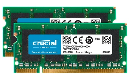Crucial Technology 2GB 667MHZ DDR2 SODIMM CT2KIT12864AC667 (Goods Electronics Computers & Tablets Computer Accessories Memory) photo