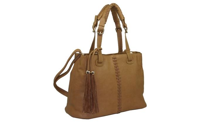 Gold Rush Tassel Satchel Handbag