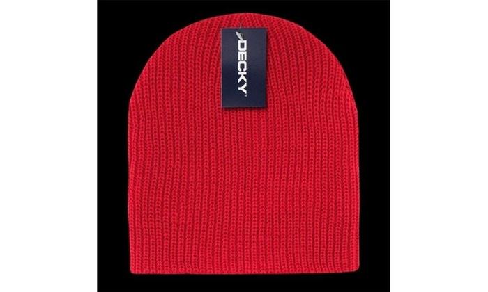 4d6f142b426806 Decky 608-RED GI Cuffless Watch Caps Red Red Label original.jpg 100% High  Bulk Acrylic