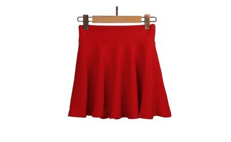 High Waist Plain Skater Flared Pleated Mini Skirt adfbf715-f062-4ad7-add4-8a0673dad853