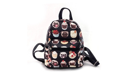 Sleepyville Critters Pugs and Desserts Backpack Purse (Goods Women's Fashion Accessories Handbags) photo