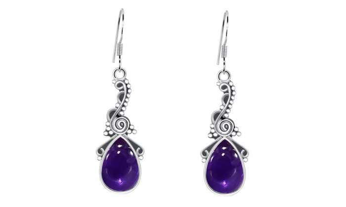 Orchid Jewelry Mfg Inc: Orchid Jewelry 925 Sterling Silver Womens Amethyst Earrings