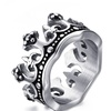 Mens Vintage Crown Ring for Wedding Band Promise Engagement