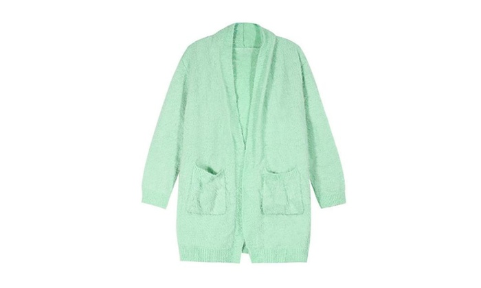 Women's Casual Open Front Solid Simple Cardigan