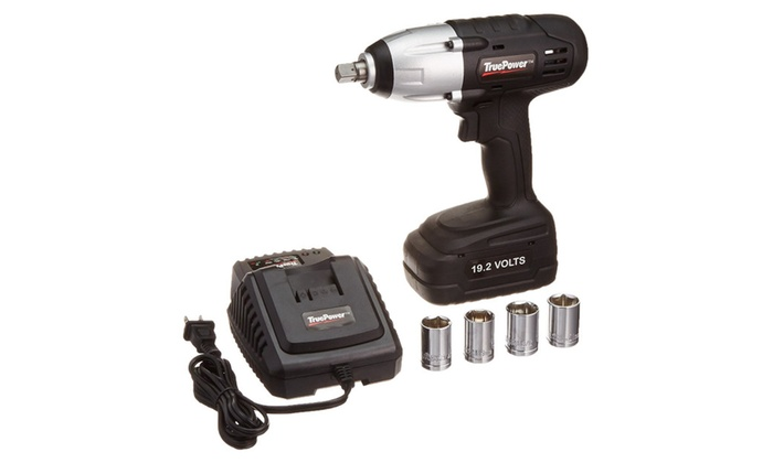 Lbs 1 2 Inch Drive Cordless Impact Wrench Kit 19 Volt Groupon