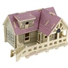 3D Doll House Wooden Miniature Furniture Kit Toy for childrens