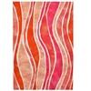 Liora Manne Visions III Wave Indoor/Outdoor Rug Pink
