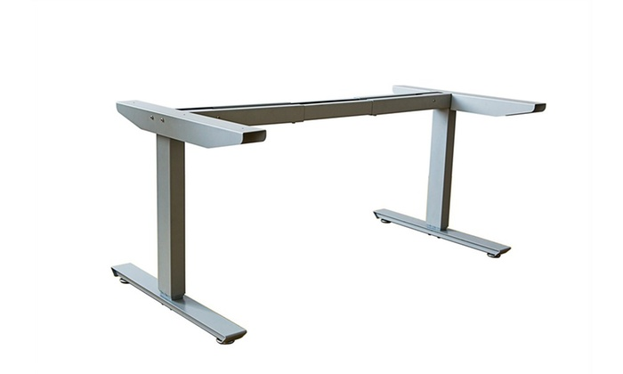 ErgoMax Office Grey Electric Height Adjustable Desk Frame W/Dual Motor