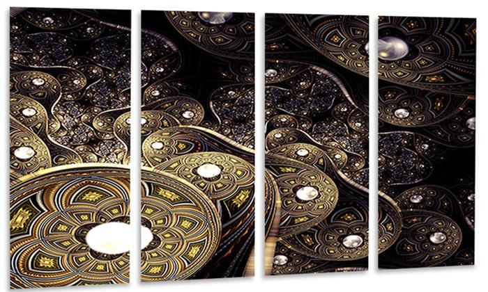 Beautiful Gold Metallic Fabric - Digital Art Metal Wall Art | Groupon