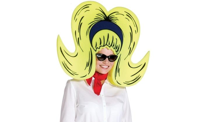 Foam Bouffant Wig/Hat – Yellow