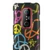 Insten Hard Rubberized Cover Case For HTC EVO 3D Black/Orange