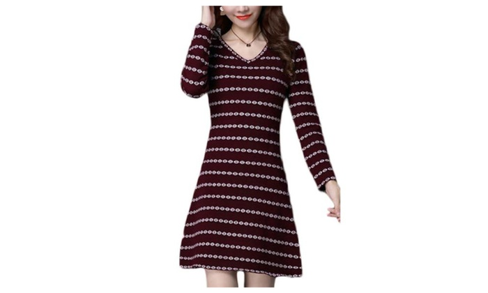 Women's Long Sleeve Casual Casual Striped Slim Fit Pullovers