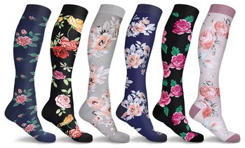 DCF Floral Compression Socks (6 Pairs)