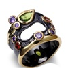 Red Purple Color CZ Wedding Women's Ring