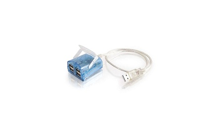 Cables To Go 18459 4-Port Usb 2.0 Laptop Hub With 1.5ft Blue Led Indic