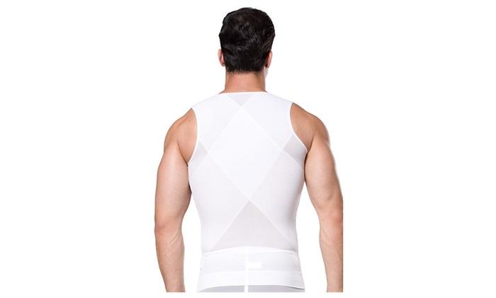 7825702749447 ... Zip n Clips Men Waist Trainer Tank Tops Vest Body Shaper ...