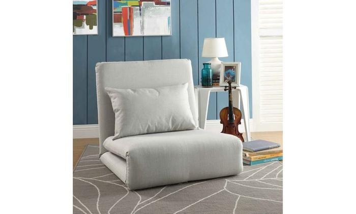Loungie Relaxie Linen 5 Position Convertible Sleeper Flip Chair ...