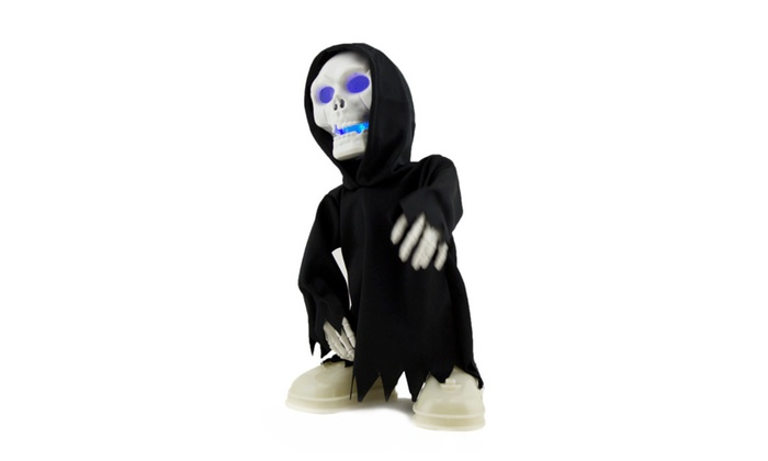 dancing singing grim reaper halloween toy is a rockstar