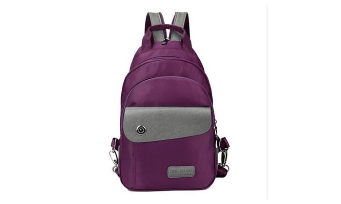 Women's Water Resistance Nylon Backpack School Bag