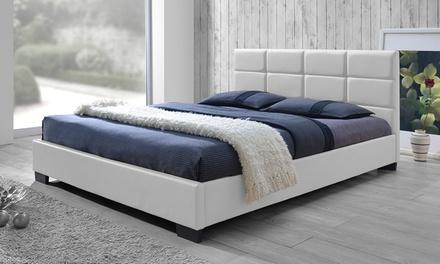 Baxton Studio Vivaldi Platform Bed with Padded Headboard