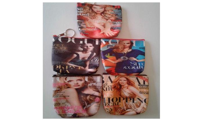 Fashion Magazine Accessory and Coin Bag