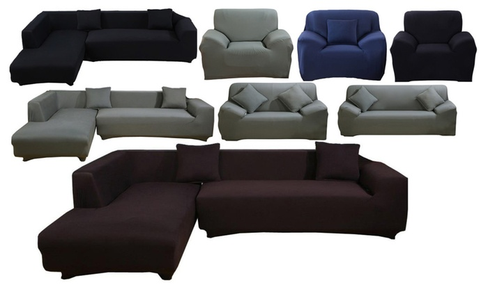 Stretch Sectional Sofa Cover Slipcovers