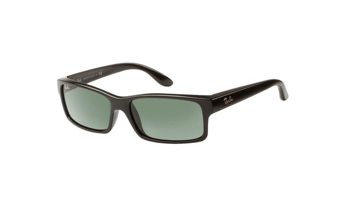 50bc9369388ddc Ray-Ban RB4151 Sunglasses with Black Frame and Green Polarized ...