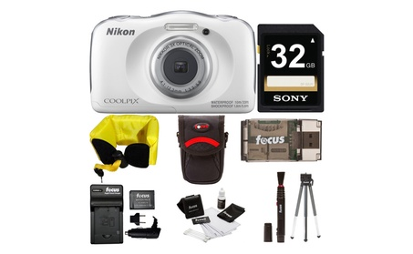 Nikon COOLPIX W100 Waterproof Digital Camera (White) w/ 32GB bundle fc8d2a59-622f-40d4-a168-7935cb8ff44e