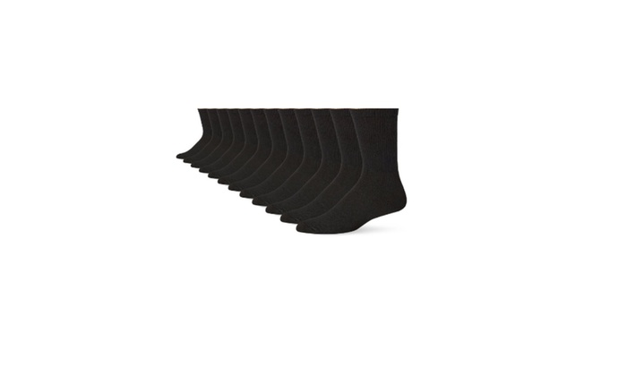 Hanes Men's 12-Pack FreshIQ Crew Socks