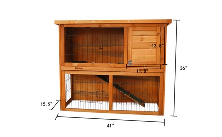 44-Inch Rabbit Hutch Bunny Cage Small Animal House Pet Cage 26ea7d09-7717-433c-a02e-15b830c9f8d1