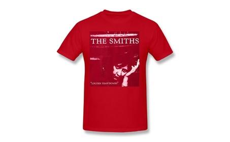 Jayaaatee The Smiths Louder Than Bombs Mens T-shirt Red 0929aa4b-f665-41e3-a93c-cbb07ede9b03