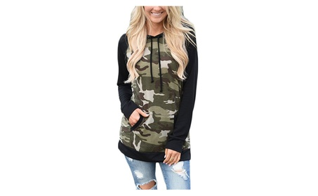 Women's Camouflage Print Pullover Hooded Sweatshirt 3c9d5834-814f-4107-888f-5bc71930ea9d