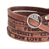 Letter Wrap Real Leather Bracelet for Men