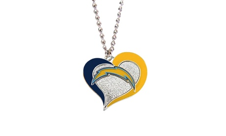 San Diego Chargers NFL Swirl Heart Necklace 1dc4b73f-d799-44a7-be1d-3cd270cf6f9b