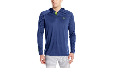Under Armour Mens Tech Popover Hoodie - S - Blackout Navy 7bce40e9-3db9-4fce-b9df-122511dea9a6