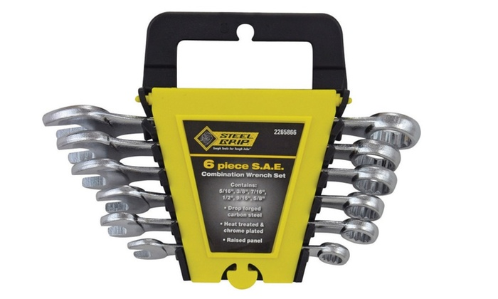 Steelgrip 2265866 6 Piece Sae Combination Wrench Set