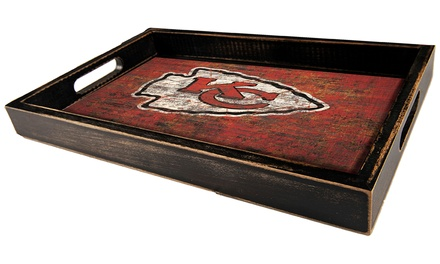 NFL Distressed Team Color Serving Tray - 11 x 19