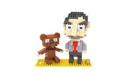 Mr. Bean And Teddy 3D Model Action Figure Toy Diamond Building Blocks 5935f274-db24-425a-8c14-6d8724a7e86f