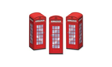 """Beistle Phone Box Favor Boxes 3"""" x 8 1/2"""" - 12 Pack (3/Pkg) baebf561-639b-4e2e-a89c-7def26cf7933"""