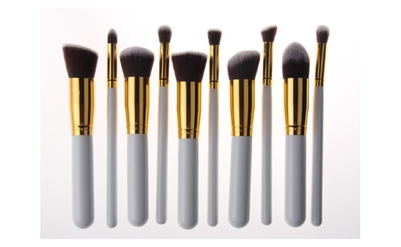 White 10pc Professional Synthetic Makeup Brush 7ac55181-a854-40dd-860f-be8a0f9af1ab