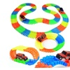 Glow in the Dark Flexible Track Set 156 Pcs Toy Playset Comes with car