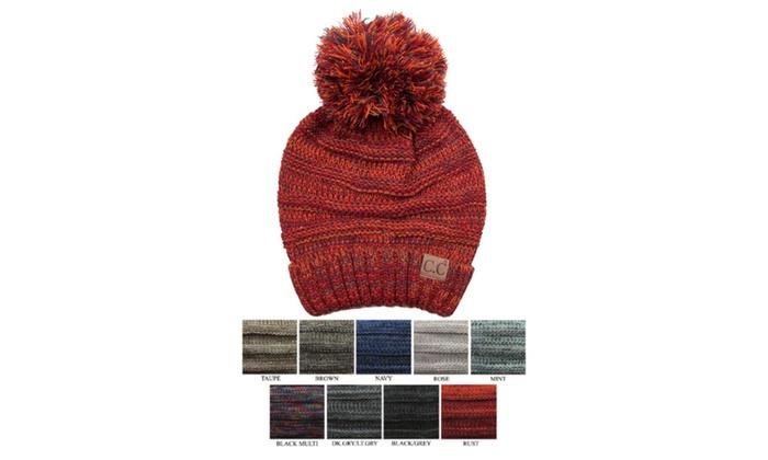 Fashion C.C Beanie Oversized Tri-Colored Slouchy Beanie Hat  907046e0c694