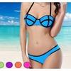 Trendy Color Caged Balconette Bikini
