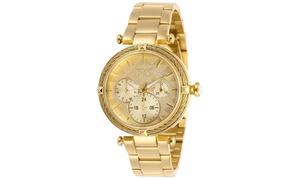 Invicta Lady 28957 Bolt Quartz 3 Hand Gold Dial Watch