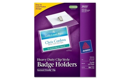 Avery Consumer Products AVE2923 Clip Style Badge Holder d384d8c2-a336-4d7e-bf61-f1f73f78d258