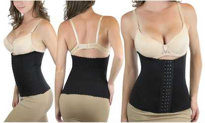 3f0810404938a Shop Groupon Women s High-Compression Thermal Waist Trainer Shaper
