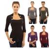 Women Ladies Fashion Cotton Long Sleeve Low Cut